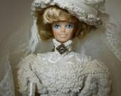 Crocheted Gibson Bride Doll