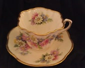 Queens ROSINA Bone China Tea Cup and Saucer Made in England 50127