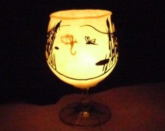 MADE TO ORDER: Dragonfly's Surprise Tea Light Holder