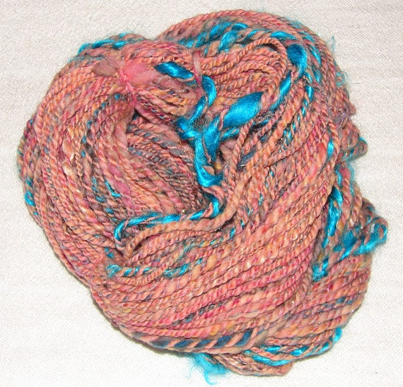 Handspun Bulky, Textured Art Yarn- Pueblo