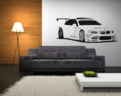 BMW Race Car Vinyl Wall Decal (Large Size)