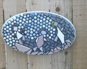 "Mosaic ""Children at Play"" wall hanging"