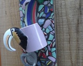 Toucan cups Mosaic wall hanging