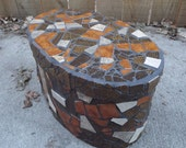 Mosaic Bentwood Oval Box - PiecesofhomeMosaics
