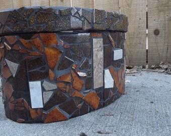 Mosaic Bentwood Oval Box