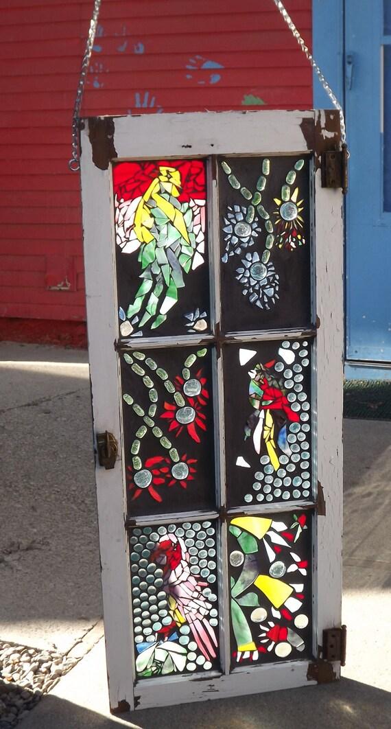 Mosaic Stained Glass bird Window
