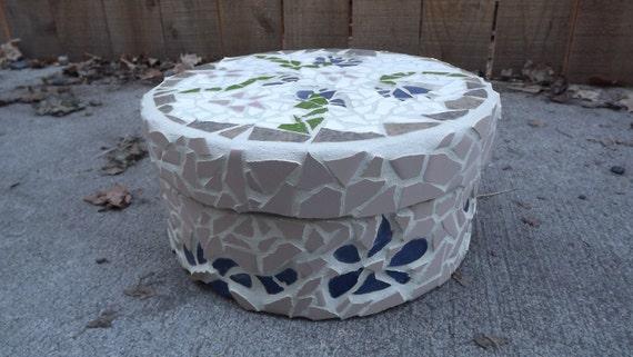 Round Mosaic Treasure Box