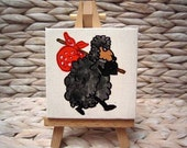 Baabaa Black Sheep - Kiwiana Pocket Painting