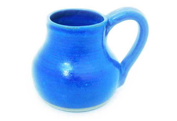 Cobalt blue hand thrown ceramic stoneware mug