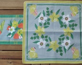 Swedish Retro. Easter or spring: runner and small table cloth, design M Bühler