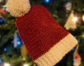 Soft Crocheted Adult Santa Hat