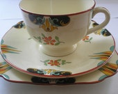 A beautiful Art Deco Tea trio from Lawleys of Stoke for Minton