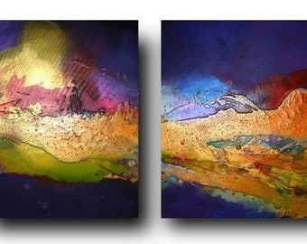 Original Coral Reef Art by C Ashwood - Textured and contemporary abstract painting on canvas - Ready to hang
