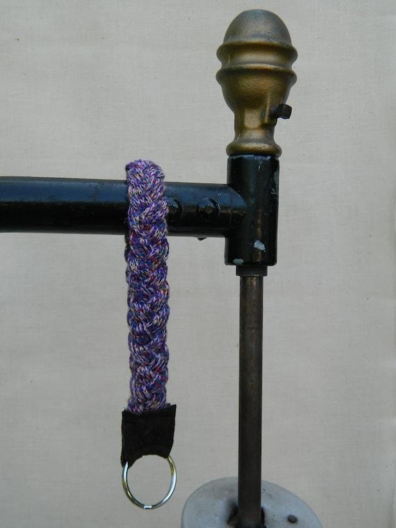 Wristlet keychain, violet, lavender, multicolor, yellow