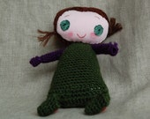 Handmade doll with personality, smiling plush toy Mindy . Immediate  and FREE SHIPPING.