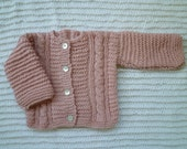 knitted baby sweater ,baby girl, Free Shipping