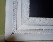 White Repurposed Antique Framed Chalkboard