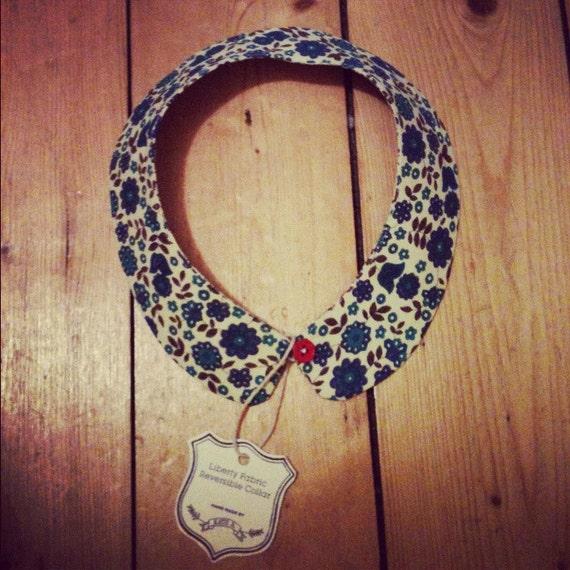 Liberty Fabric Detachable Reversible Peter Pan Collar