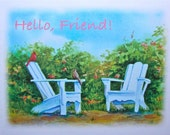 Four blank watercolor note cards for friends by Sarah L. Luginbill