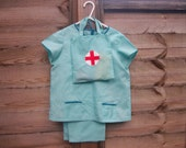 Childs doctor/nurse fancy dress costume with bag