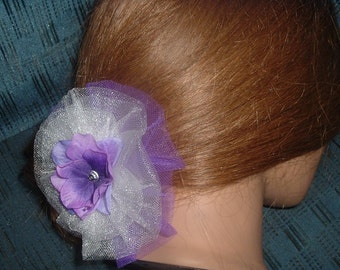 Any Color Tulle Rose/ Flower Hair Clip Barrette