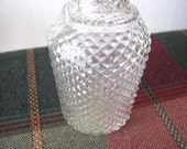 Avon Decanter - Apothecary Jar - Vintage Crystal Jar