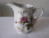 Vintage Creamer - Signed Japan - Flowers and Gold Trimmed