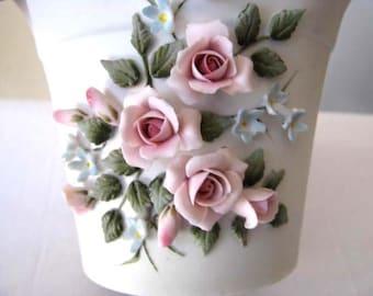 Lefton Bone China - Vintage Vase - Hand Painted