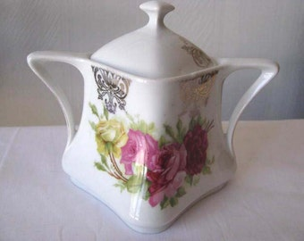 Antique 1940s - Made in Germany - Sugar Dish and Lid