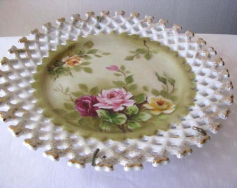 1950s - Japan Norcrest - Hand Painted - Collectible Hanging Plate
