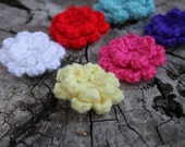 Colorful Spring Crochet Flower Pin Brooch Accessory - Free Shipping in U.S. with Another Item