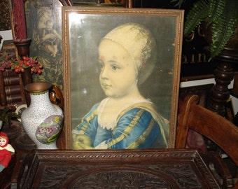 Renaissance child print