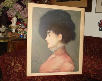 Portrait of Irma Brunner by Manet...SALE NOW 25.00