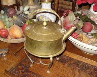 English tea kettle with warming stand...SALE NOW 55.00
