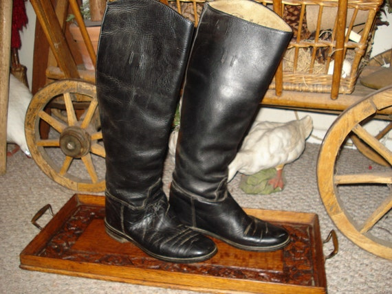 NEW SALE PRICE 25.00......Black leather riding boots by Emerson