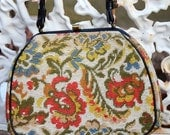Vintage Take Me With You Tapestry Purse