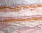Vintage Sheet Pink Rust 70's Sunset Fabric - One Yard