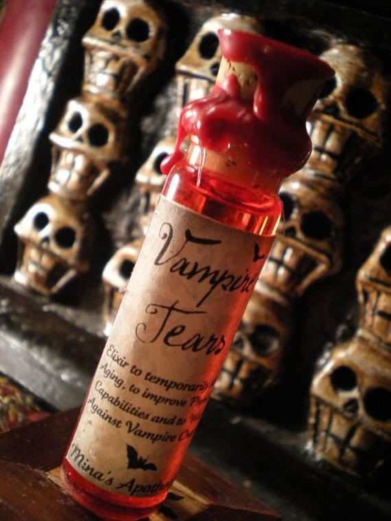 Vampire Tears - Elixir to Temporarily Stop Aging, to Improve Physical Capabilities and more (CORKED)