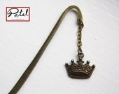 Crown bookmark - bronze - SALE! 40% off - king, royal, regal, royalty, jubilee, queen, prince, princess