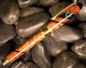 Wood Pen: Hawaiian Koa, Amboyna burl & Ebony Eurostyle Rollerball