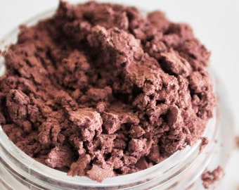 RASPBERRY CREAM Sample Size Dark Pink Mineral Eye Shadow: Natural Vegan Makeup Color