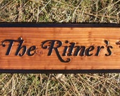 Handcrafted Redwood Sandblasted Residential Signs