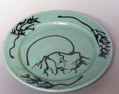 Teal Salad Plate--ID 110