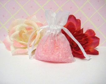 Pink Sugar Aroma Beads Sachet Organza Air Freshner Fragrance Beads
