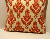 FREE SHIPPING: 2 Fleur-De-Lis Outdoor/Indoor Red Valentine Pillow Covers 18 x 18
