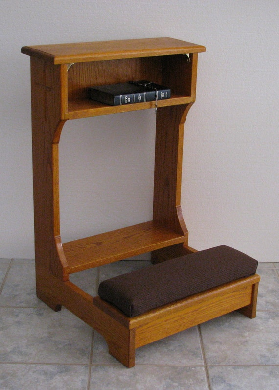 Items Similar To Prie Dieu Or Prayer Desk Style Kneeler On Etsy On Etsy