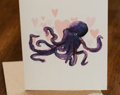 Valentine's Octopus Greeting card