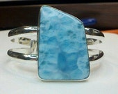 Handmade, Handcrafted, 999 Pure Silver, Sterling Silver, Larimar Bracelet