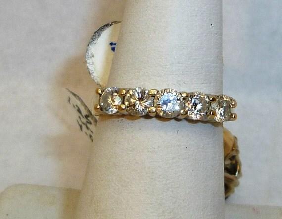 Vintage, Estate, Ladies 1ct Diamond and 14karat Yellow Gold Wedding Band