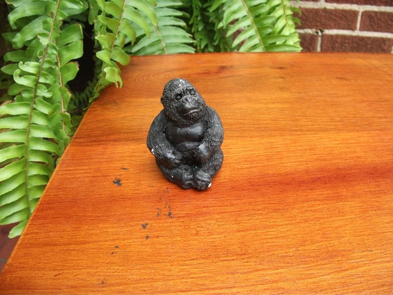 Gorilla black ape monkey figurine by septemberbutterfly on etsy - Gorilla figurines ...